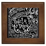 Panic ! At The Disco Lyric Quotes Framed Tiles Front
