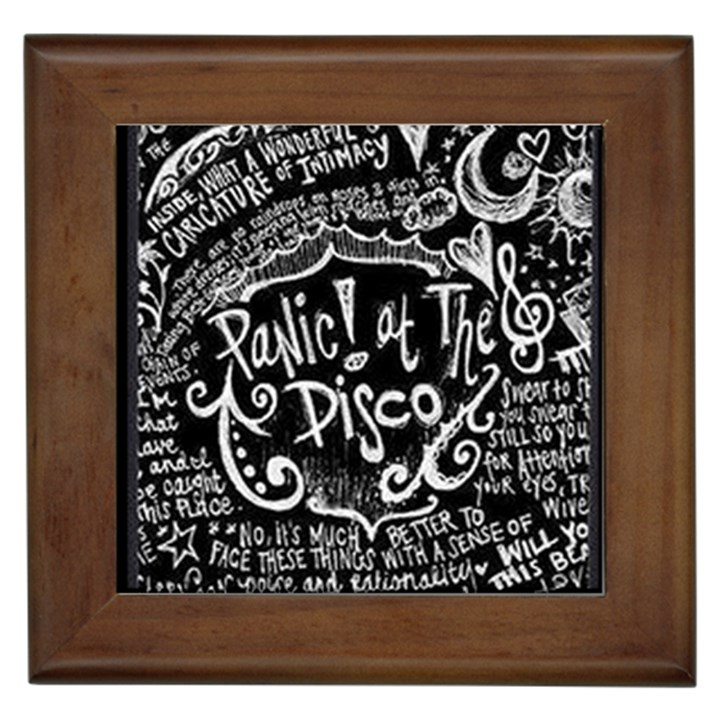 Panic ! At The Disco Lyric Quotes Framed Tiles