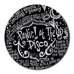Panic ! At The Disco Lyric Quotes Round Mousepads