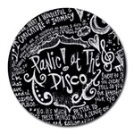 Panic ! At The Disco Lyric Quotes Round Mousepads Front