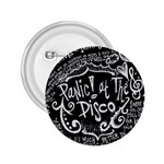 Panic ! At The Disco Lyric Quotes 2.25  Buttons Front