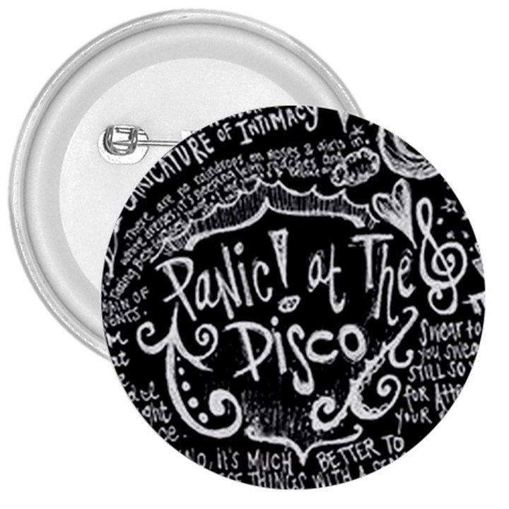 Panic ! At The Disco Lyric Quotes 3  Buttons