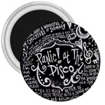 Panic ! At The Disco Lyric Quotes 3  Magnets Front