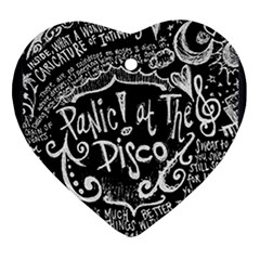 Panic ! At The Disco Lyric Quotes Ornament (Heart)