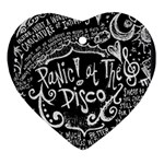 Panic ! At The Disco Lyric Quotes Ornament (Heart)  Front
