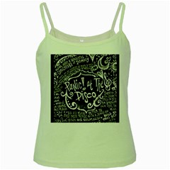 Panic ! At The Disco Lyric Quotes Green Spaghetti Tank