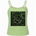 Panic ! At The Disco Lyric Quotes Green Spaghetti Tank Front