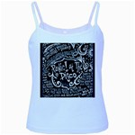 Panic ! At The Disco Lyric Quotes Baby Blue Spaghetti Tank Front