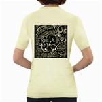 Panic ! At The Disco Lyric Quotes Women s Yellow T-Shirt Back