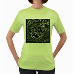 Panic ! At The Disco Lyric Quotes Women s Green T-Shirt Front