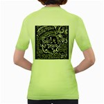Panic ! At The Disco Lyric Quotes Women s Green T-Shirt Back