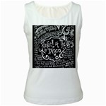 Panic ! At The Disco Lyric Quotes Women s White Tank Top Front