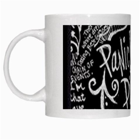Panic ! At The Disco Lyric Quotes White Mugs