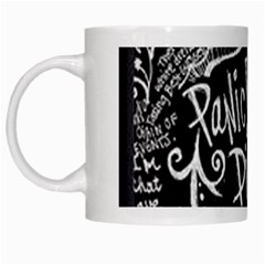 Panic ! At The Disco Lyric Quotes White Mugs