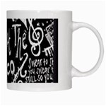Panic ! At The Disco Lyric Quotes White Mugs Right
