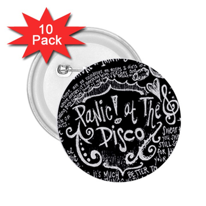 Panic ! At The Disco Lyric Quotes 2.25  Buttons (10 pack)