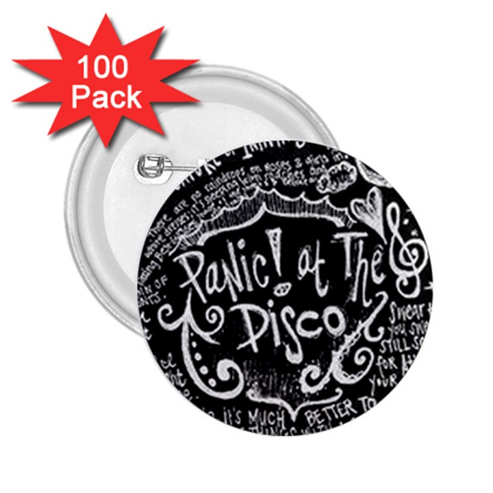 Panic ! At The Disco Lyric Quotes 2.25  Buttons (100 pack)