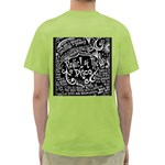 Panic ! At The Disco Lyric Quotes Green T-Shirt Back