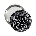 Panic ! At The Disco Lyric Quotes 2.25  Handbag Mirrors Front