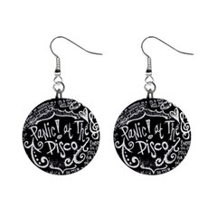 Panic ! At The Disco Lyric Quotes Mini Button Earrings