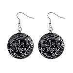 Panic ! At The Disco Lyric Quotes Mini Button Earrings Front