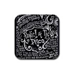 Panic ! At The Disco Lyric Quotes Rubber Square Coaster (4 pack)  Front