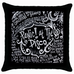 Panic ! At The Disco Lyric Quotes Throw Pillow Case (black)