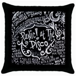 Panic ! At The Disco Lyric Quotes Throw Pillow Case (Black) Front