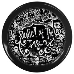 Panic ! At The Disco Lyric Quotes Wall Clocks (Black)