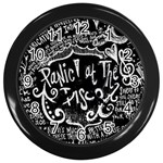 Panic ! At The Disco Lyric Quotes Wall Clocks (Black) Front