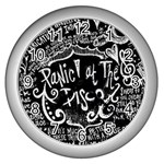 Panic ! At The Disco Lyric Quotes Wall Clocks (Silver)  Front