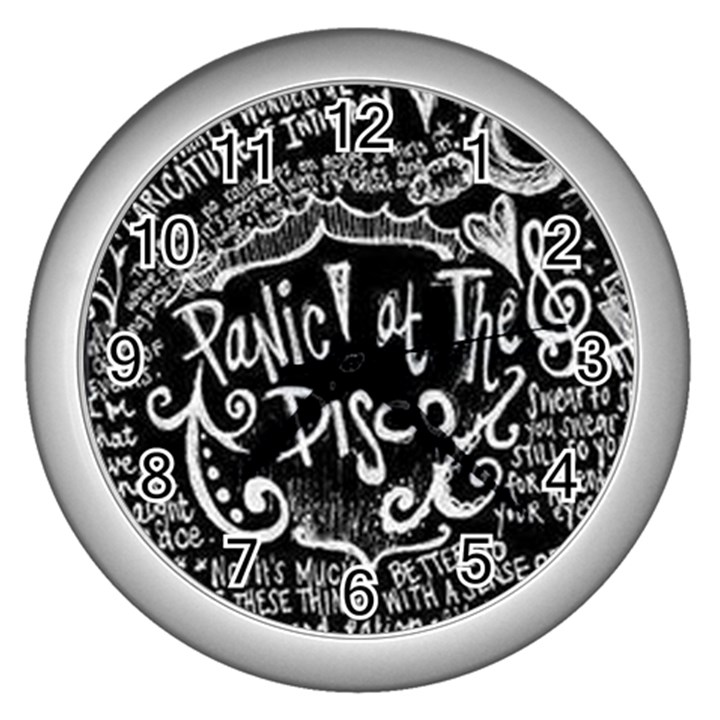 Panic ! At The Disco Lyric Quotes Wall Clocks (Silver)