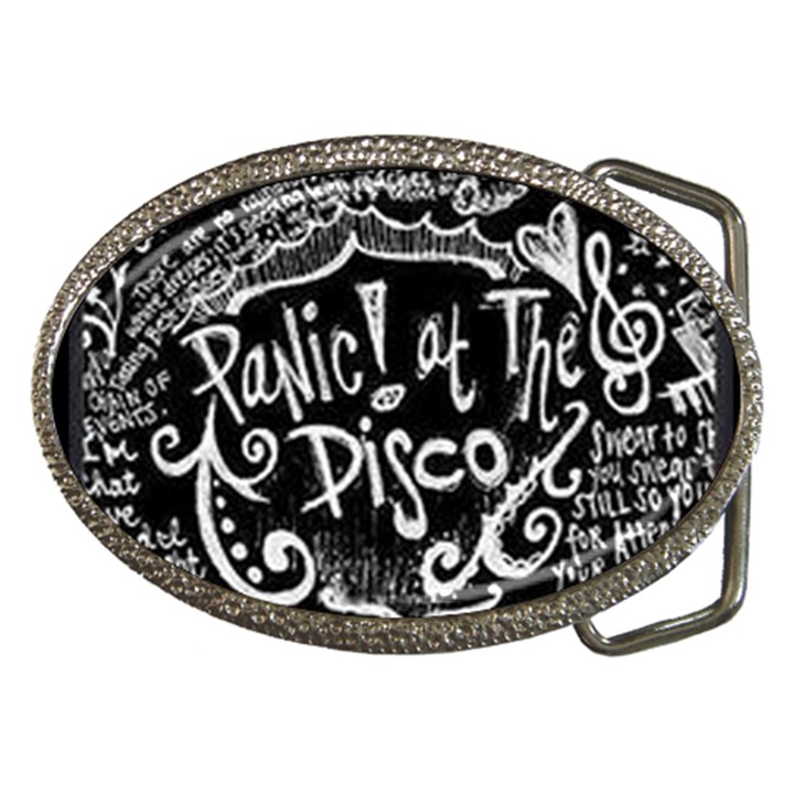 Panic ! At The Disco Lyric Quotes Belt Buckles