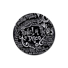 Panic ! At The Disco Lyric Quotes Rubber Coaster (Round)