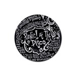 Panic ! At The Disco Lyric Quotes Rubber Round Coaster (4 pack)  Front