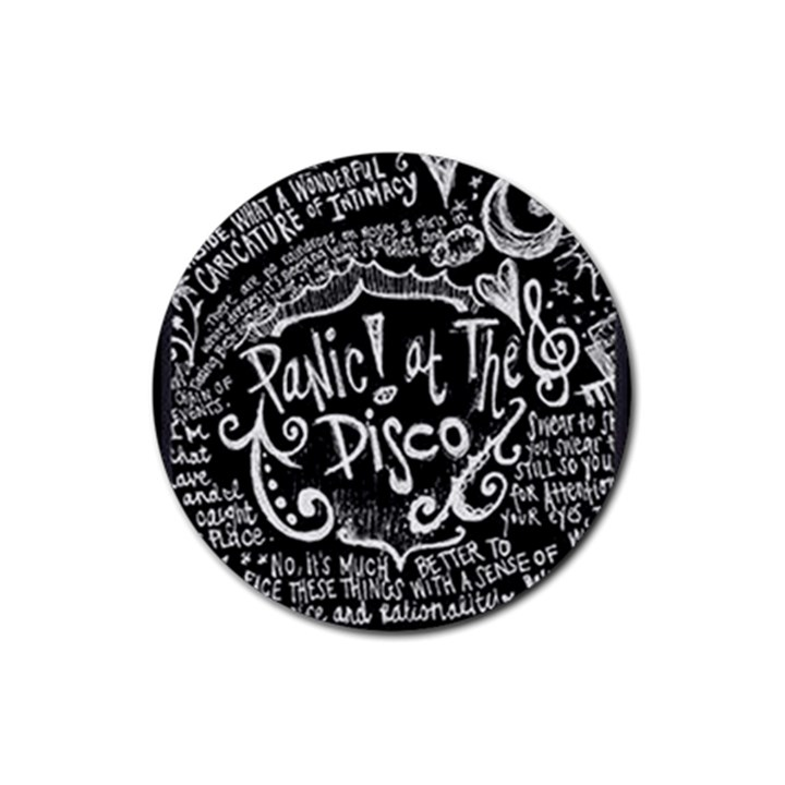 Panic ! At The Disco Lyric Quotes Rubber Round Coaster (4 pack)