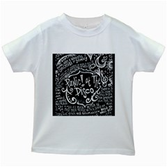 Panic ! At The Disco Lyric Quotes Kids White T-Shirts