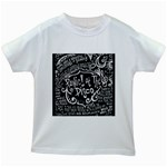Panic ! At The Disco Lyric Quotes Kids White T-Shirts Front