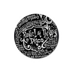Panic ! At The Disco Lyric Quotes Magnet 3  (Round) Front