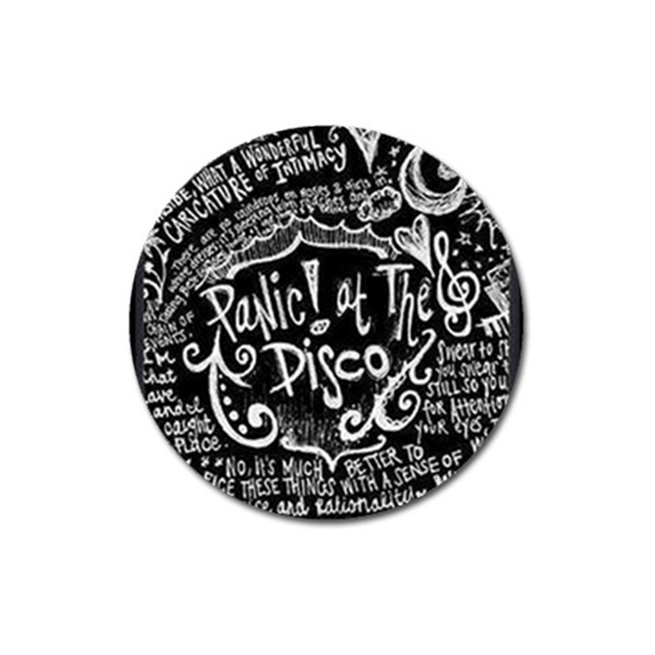 Panic ! At The Disco Lyric Quotes Magnet 3  (Round)