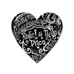 Panic ! At The Disco Lyric Quotes Heart Magnet Front