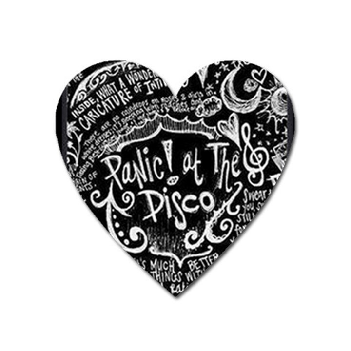 Panic ! At The Disco Lyric Quotes Heart Magnet
