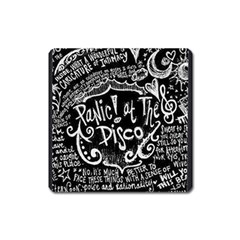 Panic ! At The Disco Lyric Quotes Square Magnet