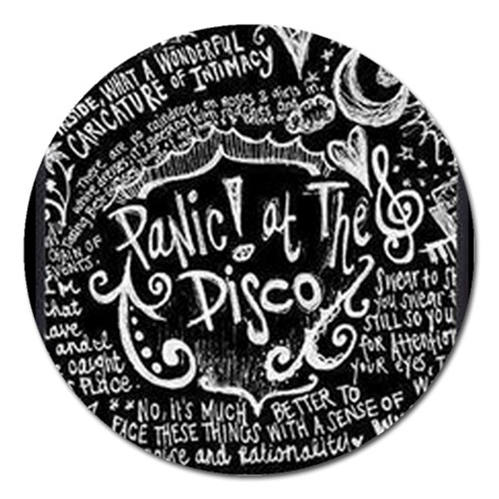 Panic ! At The Disco Lyric Quotes Magnet 5  (Round)