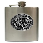 Panic ! At The Disco Lyric Quotes Hip Flask (6 oz) Front