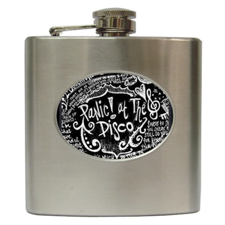 Panic ! At The Disco Lyric Quotes Hip Flask (6 oz)