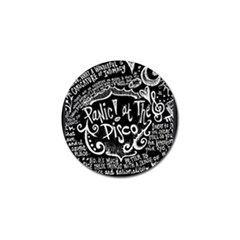 Panic ! At The Disco Lyric Quotes Golf Ball Marker (4 Pack)