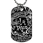Panic ! At The Disco Lyric Quotes Dog Tag (Two Sides) Back