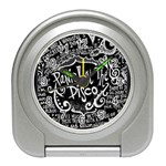 Panic ! At The Disco Lyric Quotes Travel Alarm Clocks Front