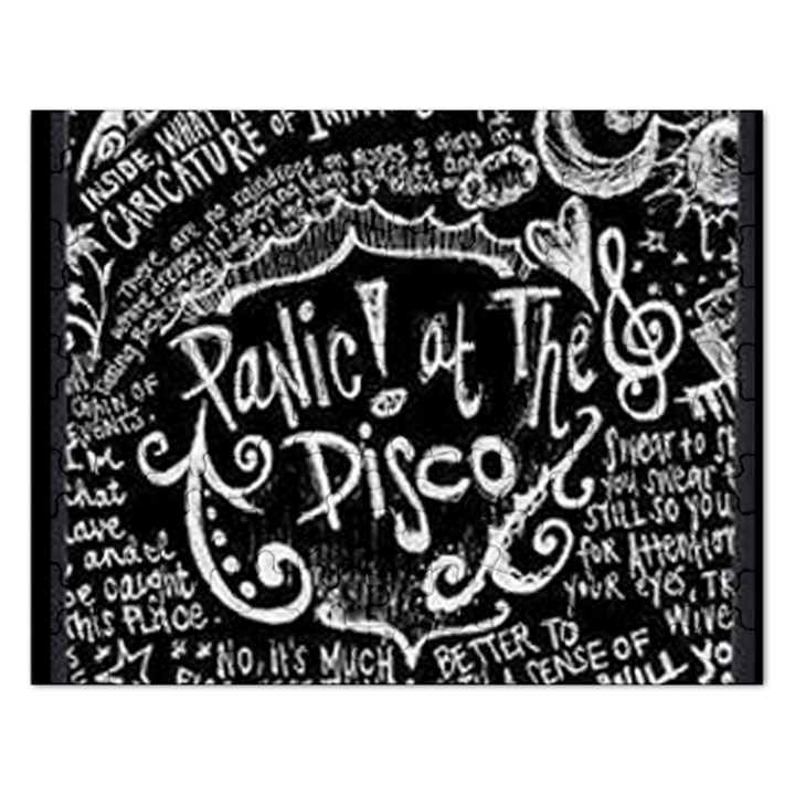 Panic ! At The Disco Lyric Quotes Rectangular Jigsaw Puzzl